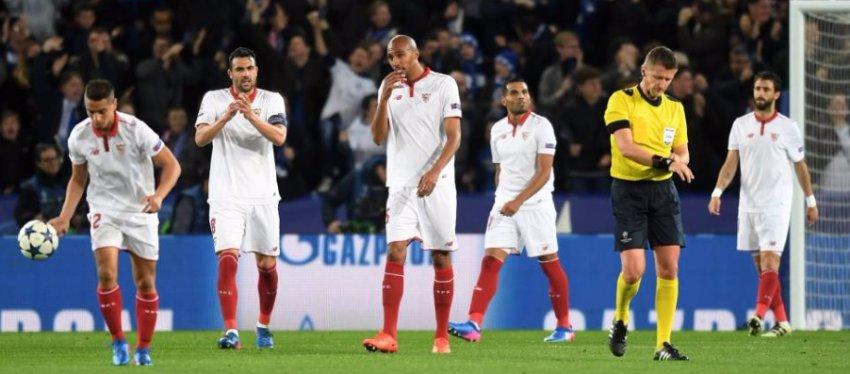 El Sevilla no pudo con el reto de la Champions League. Foto: Twitter.