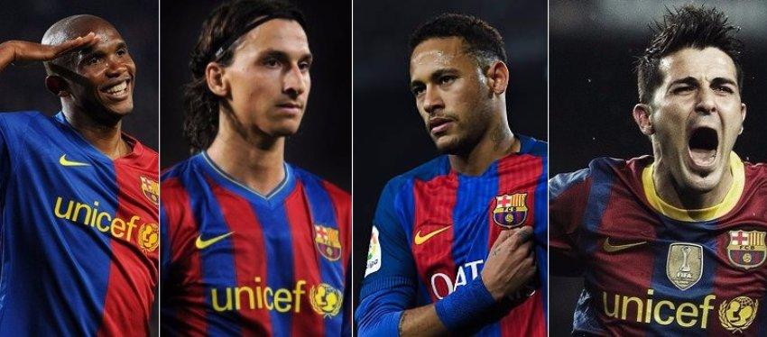Eto'o, Ibrahimovic, Neymar y Villa, tres de las víctimas de Messi.