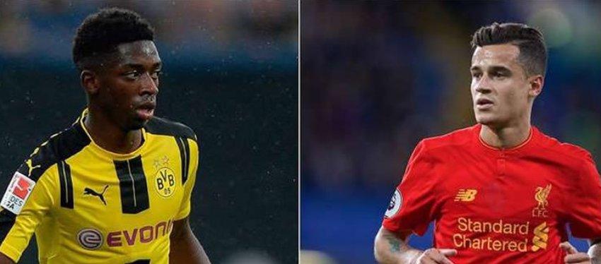 Dembelé y Coutinho, dos de los grandes objetivos del Barça. Foto: @Sportazo.