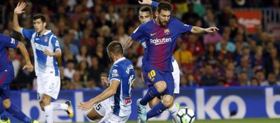 Messi fue una pesadilla para el Espanyol. Foto: Twitter.