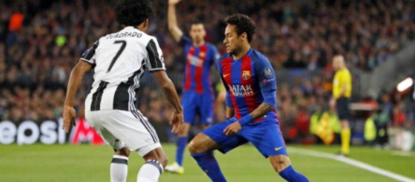Foto: Neymar en una jugada del partido contra la Juventus