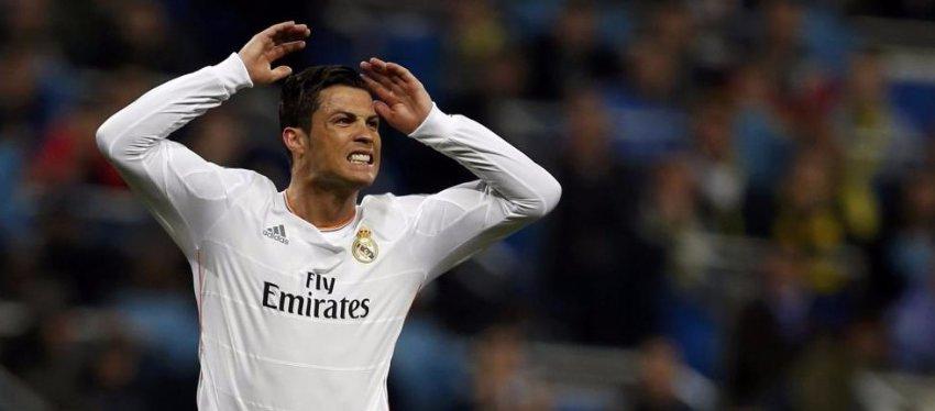 Cristiano Ronaldo se lamenta de una ocasión perdida. Foto: El Confidencial.