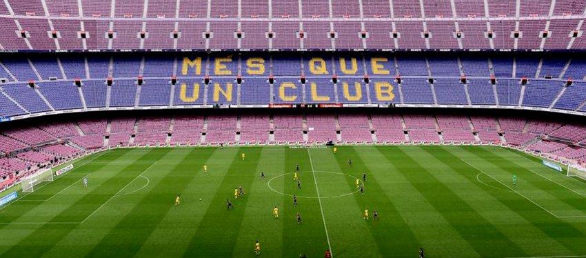 Así lució el Camp Nou el pasado domingo. Foto: Twitter.