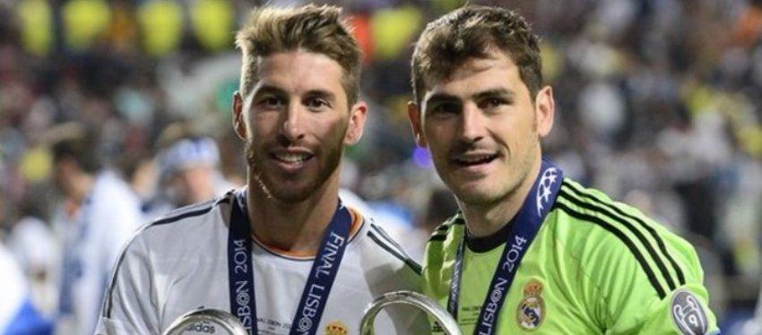 Sergio Ramos y Casillas, en la final de la Champions 2014. Foto: El Confidencial.