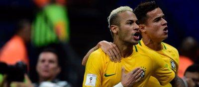 Neymar y Coutinho, compañeros de selección. Foto: 90 minutos.
