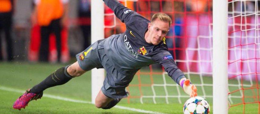 Ter Stegen, protagonista de una de las paradas imposibles ante el Bayern de Munich. Foto: Joe.co.uk.