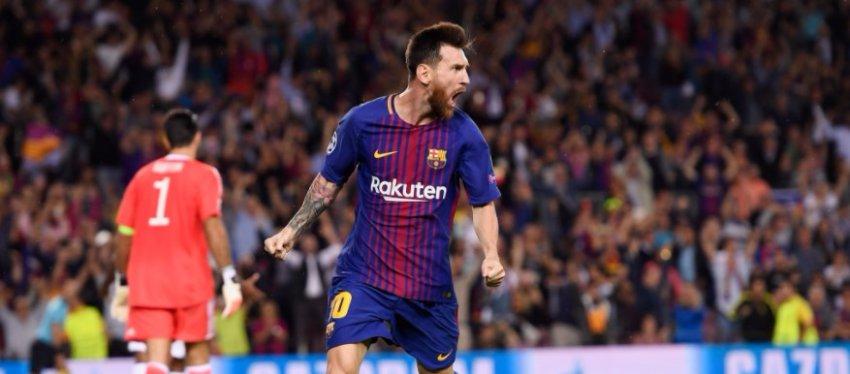 Messi volvió a echarse al equipo a la espalda con un doblete ante la Juventus. Foto: Twitter.