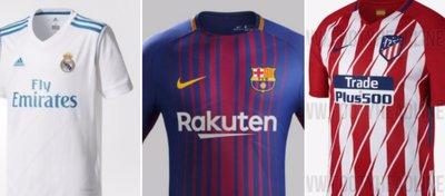 Las nuevas camisetas de la temporada 2017-18