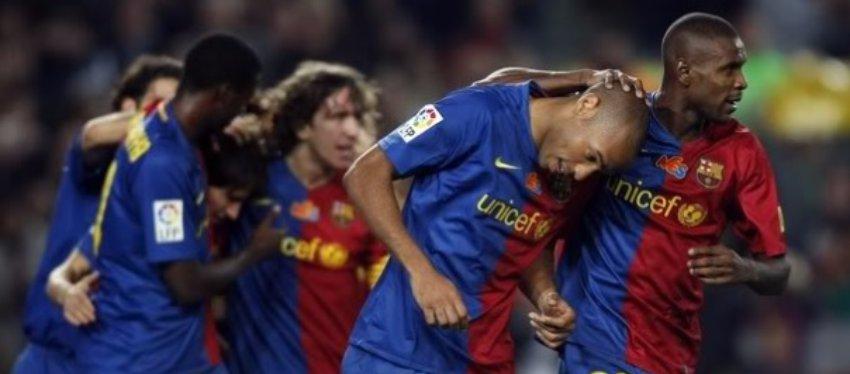Solo hay un precedente que le valdría al Barça para agarrarse a la temporada. Fue en 2008. Foto: Allaboutfcbarcelona.