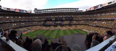 El Santiago Bernabéu, el estadio español con mayor valor económico. Foto: Twitter.