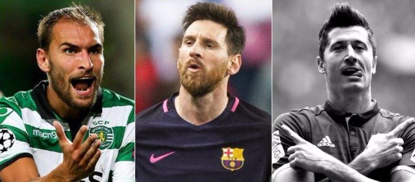 Messi, Bas Dost y Lewandowski lideran la Bota de Oro.