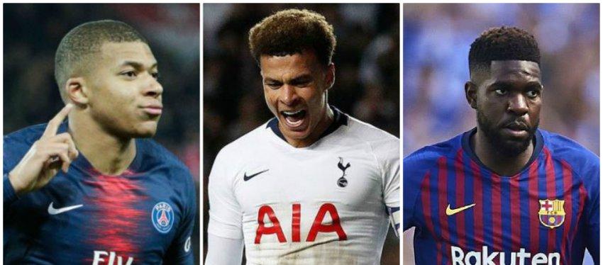 Mbappé, Dele Alli y Umtiti, tres de los futbolistas más cotizados.
