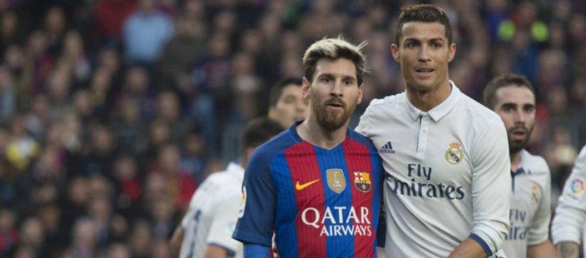 Messi y Cristiano, en uno de los Clásicos. Foto: Twitter.