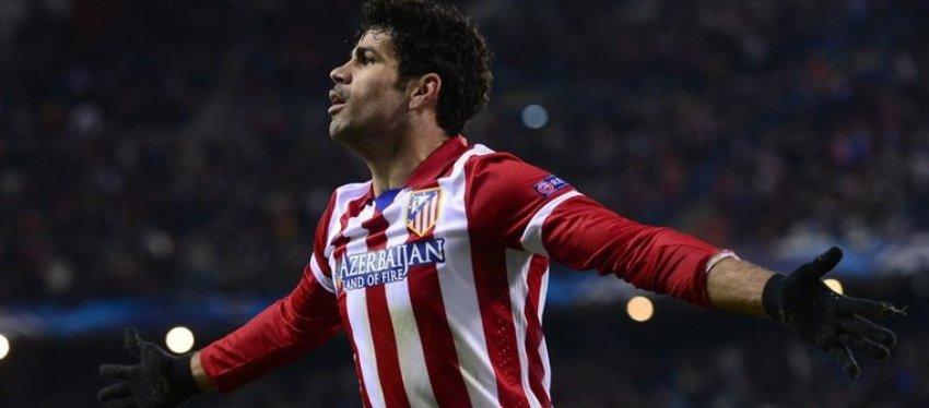 Diego Costa, en su anterior etapa con el Atlético de Madrid. Foto: Twitter.