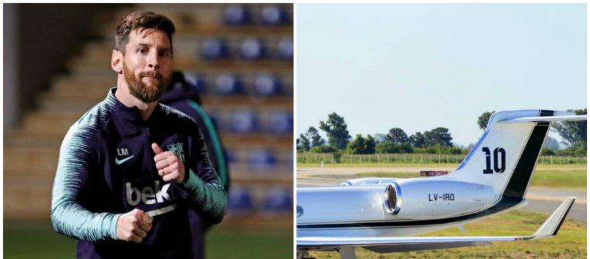 Así es el nuevo avión privado de Messi valorado en 15 millones de dólares