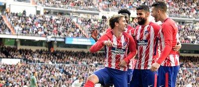 Griezmann celebra el 1-1 ante el Madrid. Foto: @optajose.