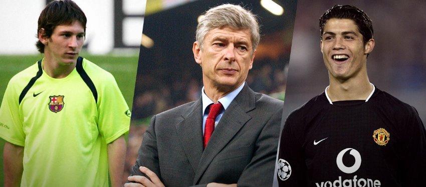 Messi y Cristiano, el sueño frustrado de Wenger. Foto: ESPN.