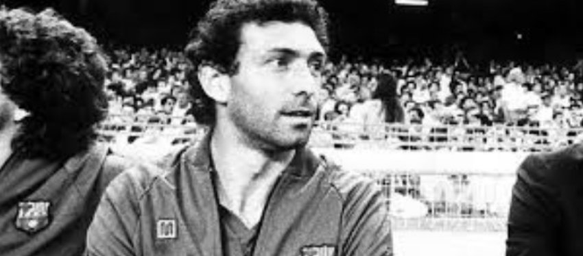 Quini, en su etapa en el FC Barcelona. Foto: Twitter.