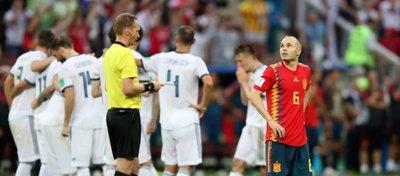 Iniesta jugó su último partido con la selección española. Foto: UEFA.