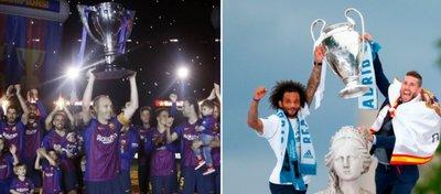 El Barça recibió más por el doblete que el Madrid por la Champions