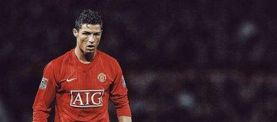 Cristiano Ronaldo, en su etapa en el Manchester United. Foto: Twitter.