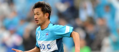 Kazuyoshi Miura, jugador del Yokohama FC. Foto: Twitter.