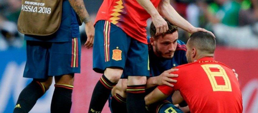 Koke, desolado tras a tanda de penaltis. Foto: Twitter.