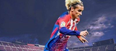 Fotomontaje de Griezmann con la camiseta del Barça y el Atleti. Foto: Nachinho_fcb.