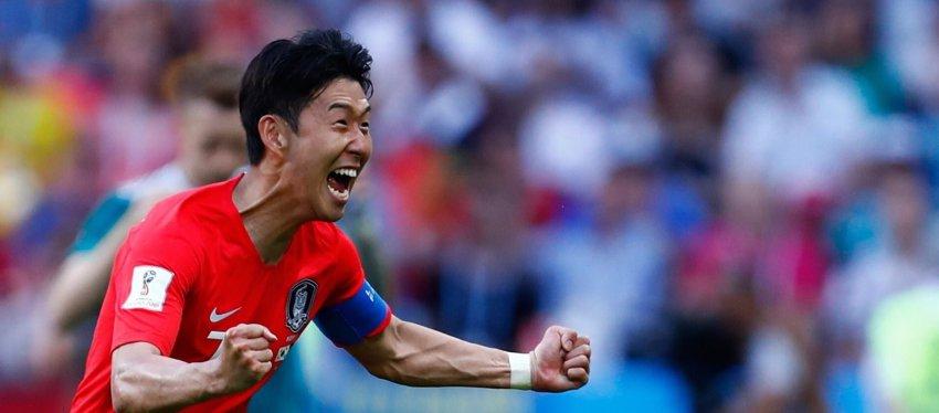 Son Heung-Min, jugador de Corea del Sur. Foto: Twitter.