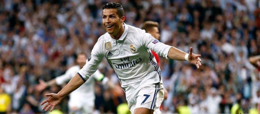 Cristiano Ronaldo celebra un gol con el Real Madrid. Foto: Twitter.
