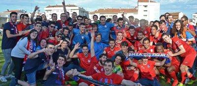 El CD Calahorra, el único equipo invicto del fútbol español. Foto: Twitter.