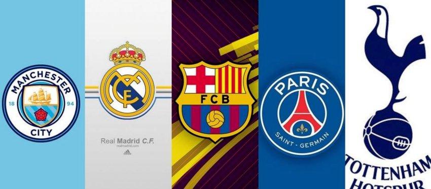 Manchester City, Real Madrid, Barça, PSG y Tottenham, cinco de los equipos más presentes en el Mundial. Foto: @dfootballoffic1.