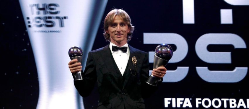 Modric, ganador del premio The Best. Foto: Twitter.