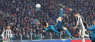 Cristiano Ronaldo se alzó al cielo de Turín para marcar uno de los mejores goles de su carrera. Foto: Tiempo de juego.