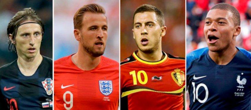 Modric, Kane, Hazard y Mbappé, cuatro de los grandes protagonistas en Rusia. Foto: Twitter.