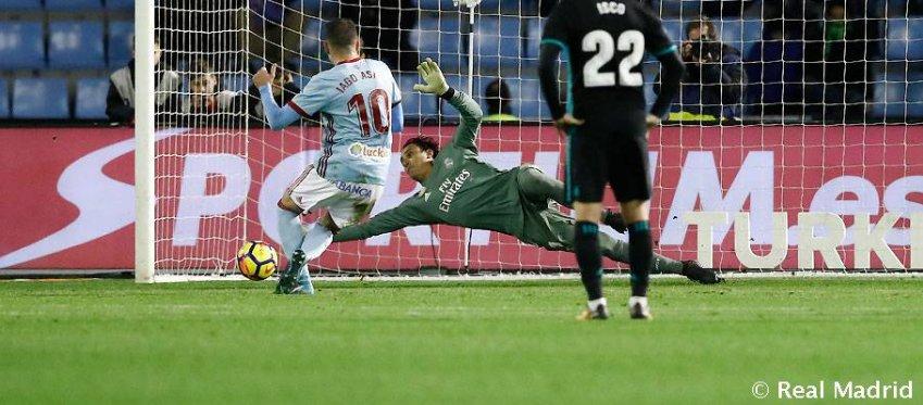 Keylor Navas, el pasado domingo en Vigo. Foto: Real Madrid.