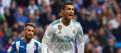 Cristiano volvió a marcar pero se mostró serio pese a la goleada. Foto: ESPN.