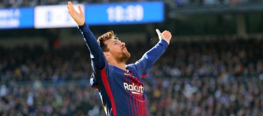Messi celebra un gol en el Bernabéu el pasado mes de diciembre. Foto. Twitter.
