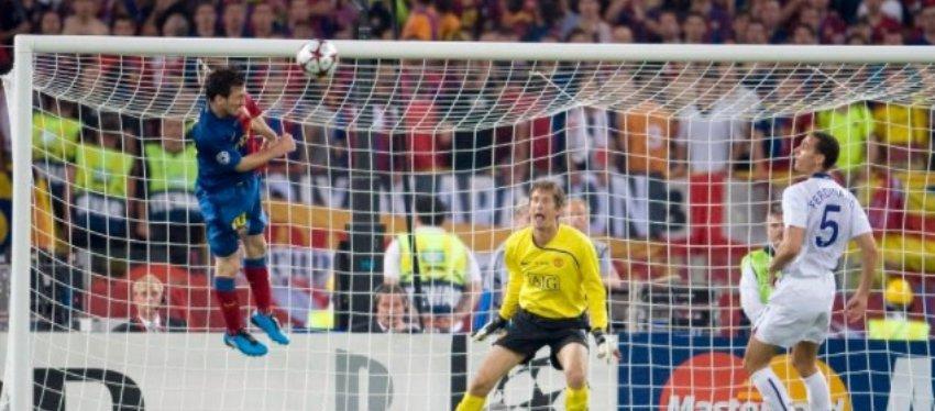 Messi marcó el 2-0 definitivo en la final de la Champions 2009.