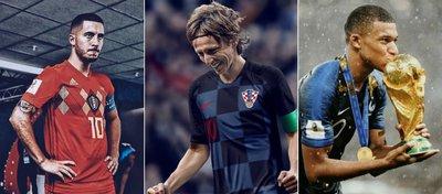 Hazard, Modric y Mbappé, tres de los mejores jugadores en Rusia 2018.