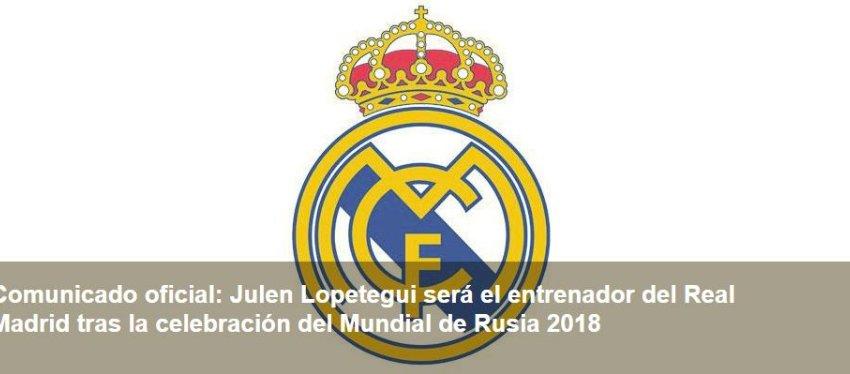Comunicado del Real Madrid en su página