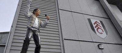 La estatua de Michael Jackson en Craven Cottage. Foto: La Tercera.