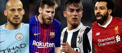 Silva, Messi, Dybala y Salah, cuatro de los grandes jugadores de esta temporada. Foto: Somos Invictos.