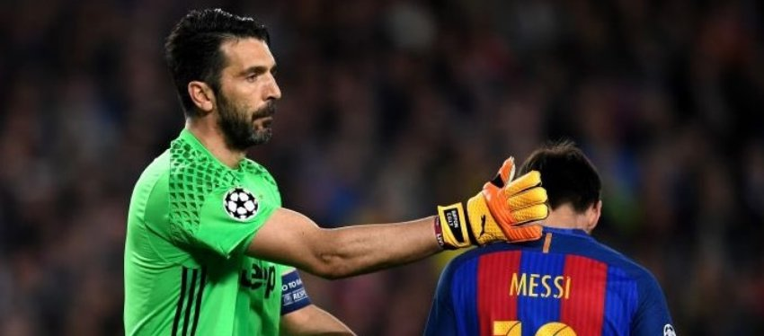 Un mito como Buffon se moja, ¿Cristiano o Messi?