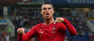Cristiano Ronaldo celebra uno de los cuatro goles que lleva en el Mundial. Foto: Twitter.
