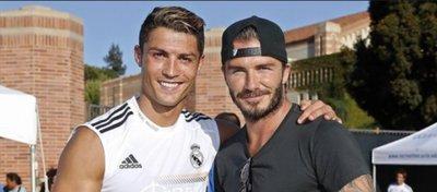 Cristiano Ronaldo y Beckham, en una concentración del Real Madrid en Estados Unidos.