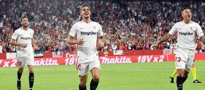 El Sevilla, líder de la clasificación. Foto: Sevilla FC.