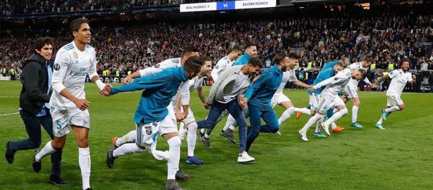 El Real Madrid celebra su pase a la final de Champions. Foto: @marcoasensio10.