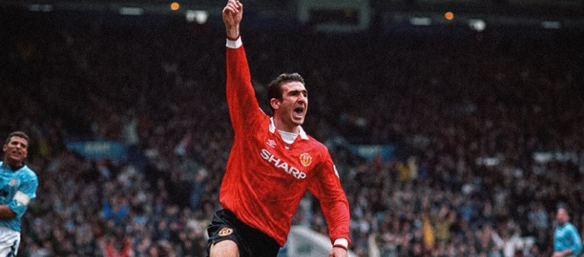 Cantona, en su etapa en el Manchester United. Foto: Twitter.